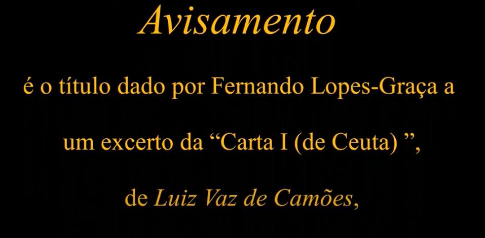 """""""Avisamento"""" de Luís de Camões, pelo Coro Lopes-Graça"""