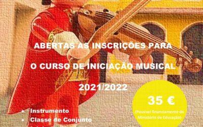 Inscrições para o curso de Iniciação Musical