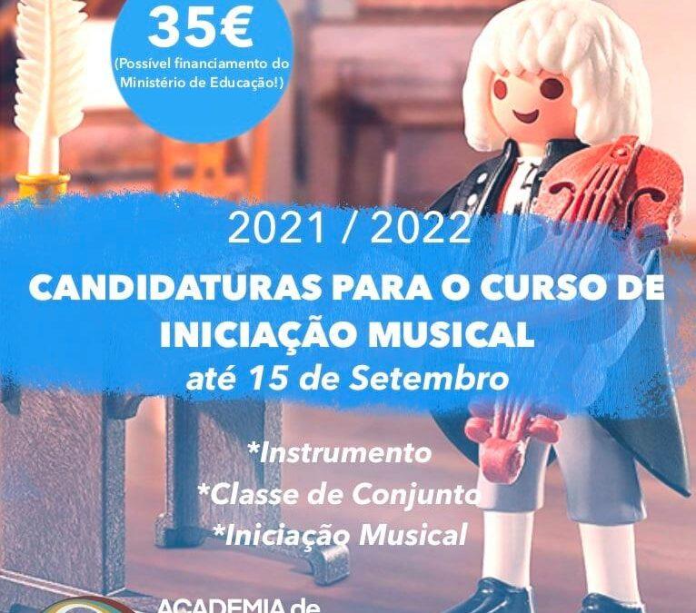 Candidaturas para o curso de Iniciação Musical – 2ª Fase